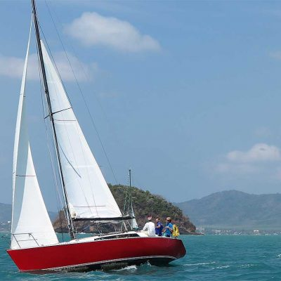 farrgo express off the coast of phuket at the kings cup regatta