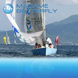 Madame Butterfly racing yacht charter sail in asia