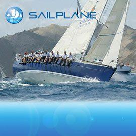Sailplane racing yacht charter sail in asia